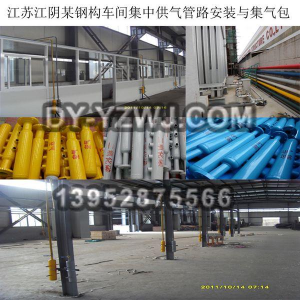 焊接车间管路分气包