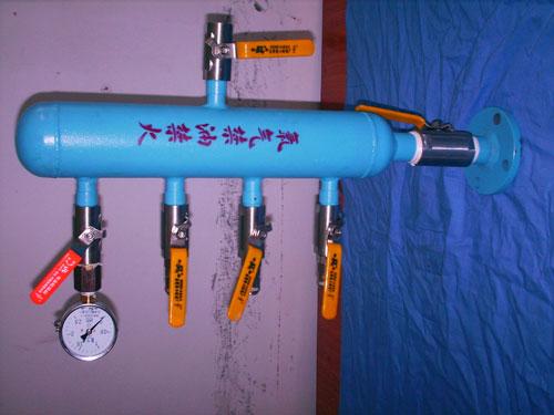 横式立式氧气分气包