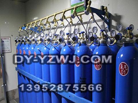 30S龙门架氧气汇流排管道供气