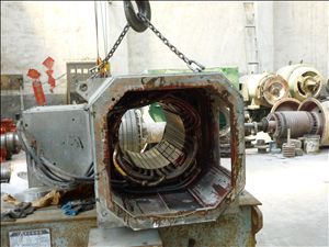 直流电机定子检修