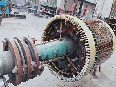 高壓電機轉子維修完成