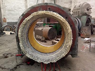高壓電機定子下線完成