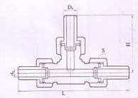YZG1-16焊接式三通管接头