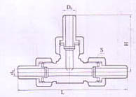 齐发国际_YZG1-16焊接式三通管接头