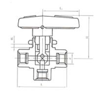 YZQ-6B Q14SA-64内螺纹三通球阀