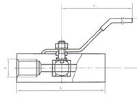 YZQ-2C Q11F-64内螺纹球阀