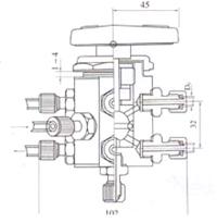 YZQ-11 YFP-4四位两通切换球阀