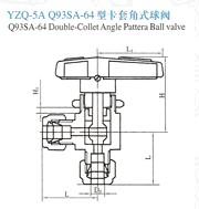 YZQ-5A卡套角式球阀