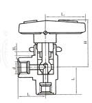 YZQ-5B内螺纹角式球阀