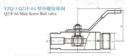 YZQ-3外螺纹球阀
