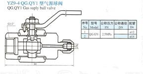 YZ9-4气源球阀