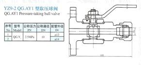 YZ9-2取压球阀