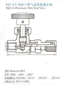 YZ7-4.5.SQJ-3气动管路截止阀