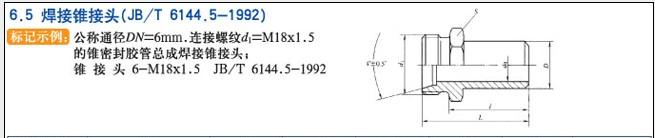JB/T6144.5-1922焊接锥接头