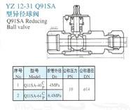 YZ12-31 Q91SA异径球阀