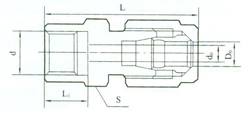 YZG2-18压力表直通接头