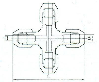 YZG2-12四通中间接头