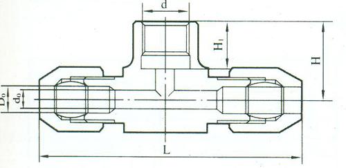 YZG2-10压力表三通接头