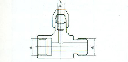 YZG2-9调节阀三通接头