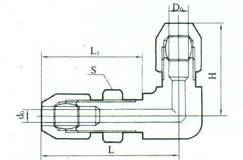 YZG2-7弯通穿板接头