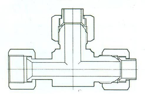 YZG4-17组合三通接头