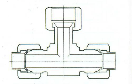 YZG4-16组合三通接头