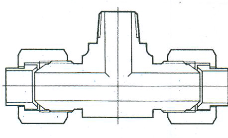 YZG4-14三通终端锥管接头