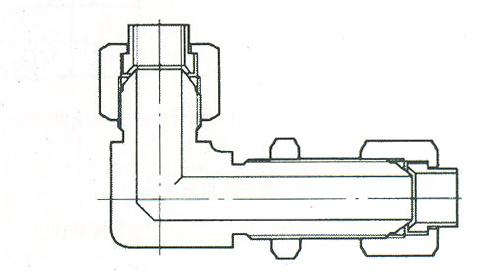 YZG4-11弯通穿板接头