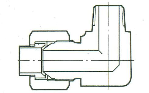YZG4-8弯通终端锥管接头