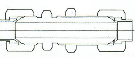 YZG4-6直通穿板接头