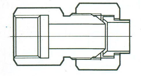 YZG4-4压力表直通接头