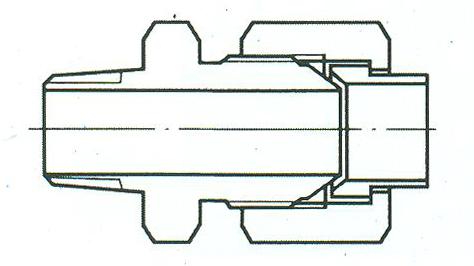 YZG4-2直通终端锥管接头