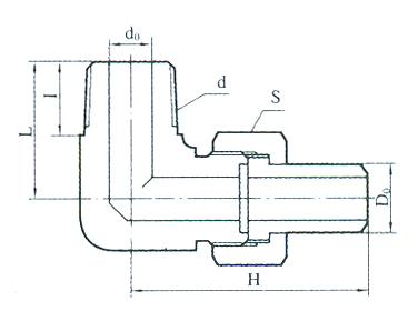 YZG5-22弯通终端锥管接头