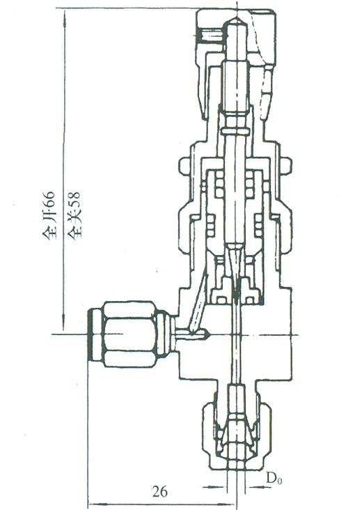 微型角式截止阀