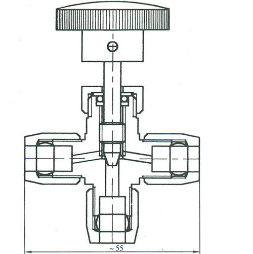 气动管路三通截止阀