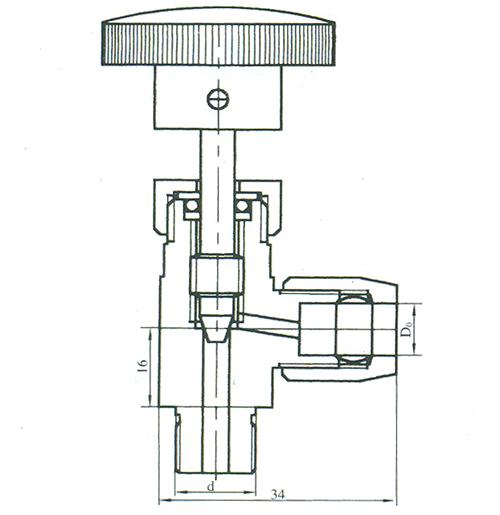 气动管路异径截止阀