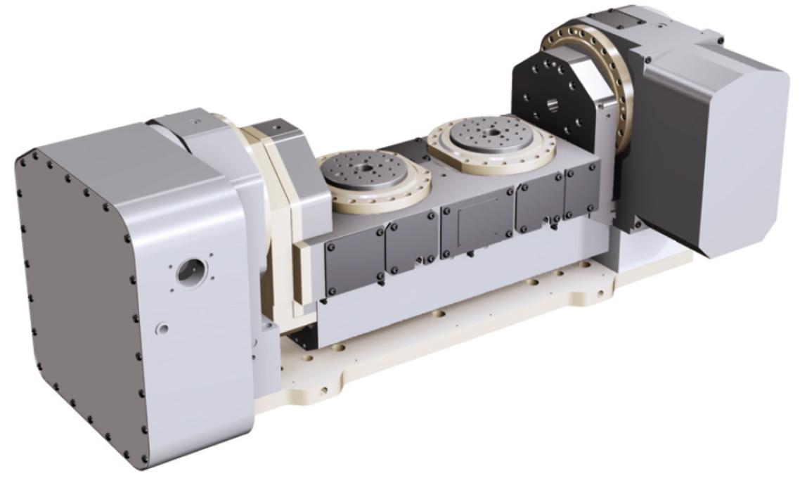MTR2係列雙工位五軸NC數控轉台(搖籃式)