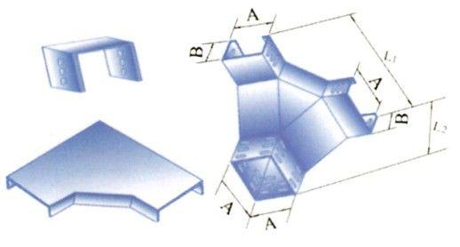 槽式电缆桥架XQJ-C-03F型上角垂直三通