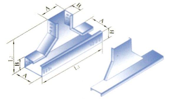 槽式电缆桥架XQJ-C-03E型下边垂直三通