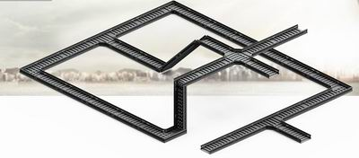 高耐腐轻钢托盘电缆桥架