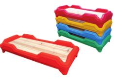 幼儿塑料木板床