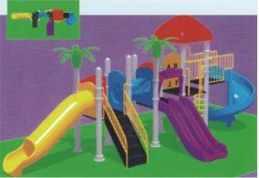 工程塑料组合滑梯