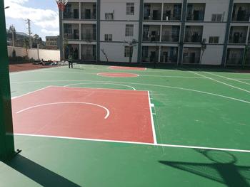 云南塑胶球场安装