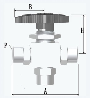 内螺纹三通高压仪表球阀