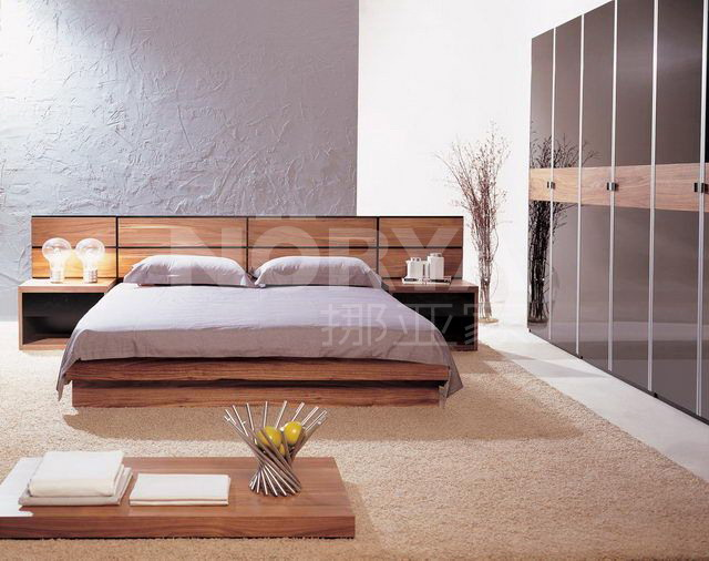 卧室简约大床