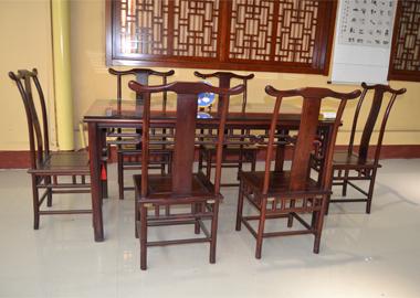 明式餐桌红酸枝