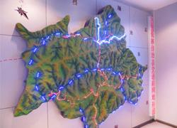 曲靖地形模型