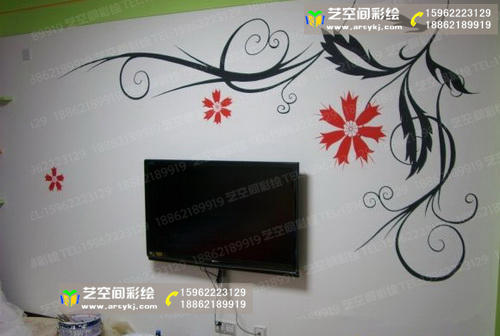 苏州电视机背景墙彩绘