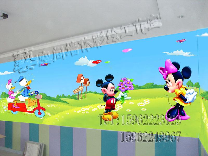 幼儿园手工喷绘
