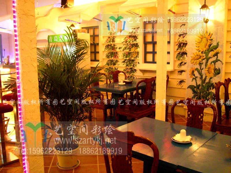 苏州餐厅彩绘